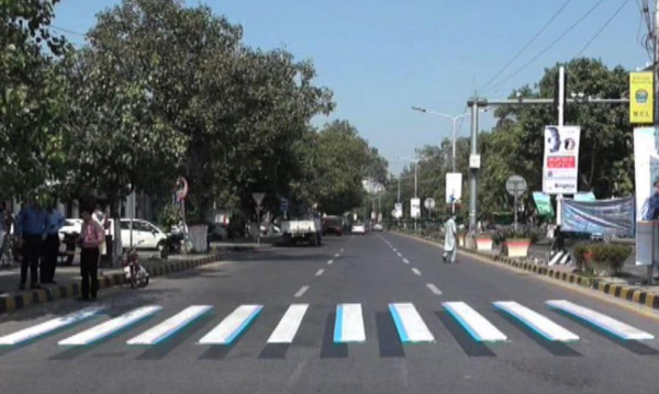 Pakistan's New 3D Zebra Crossings Introduced In Lahore