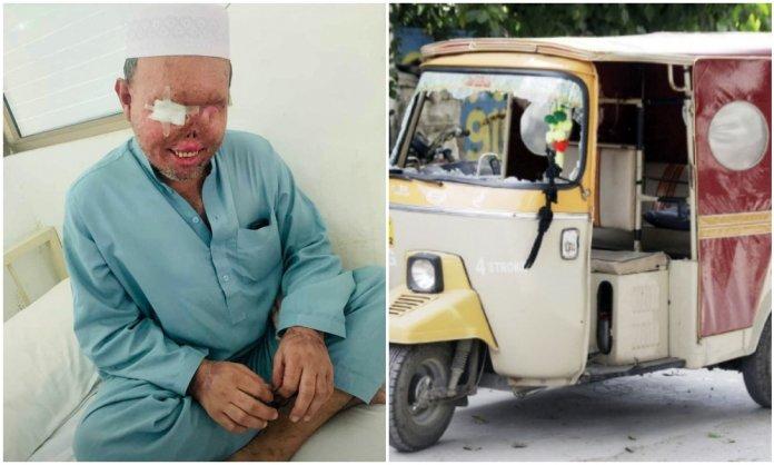 brave rickshaw driver