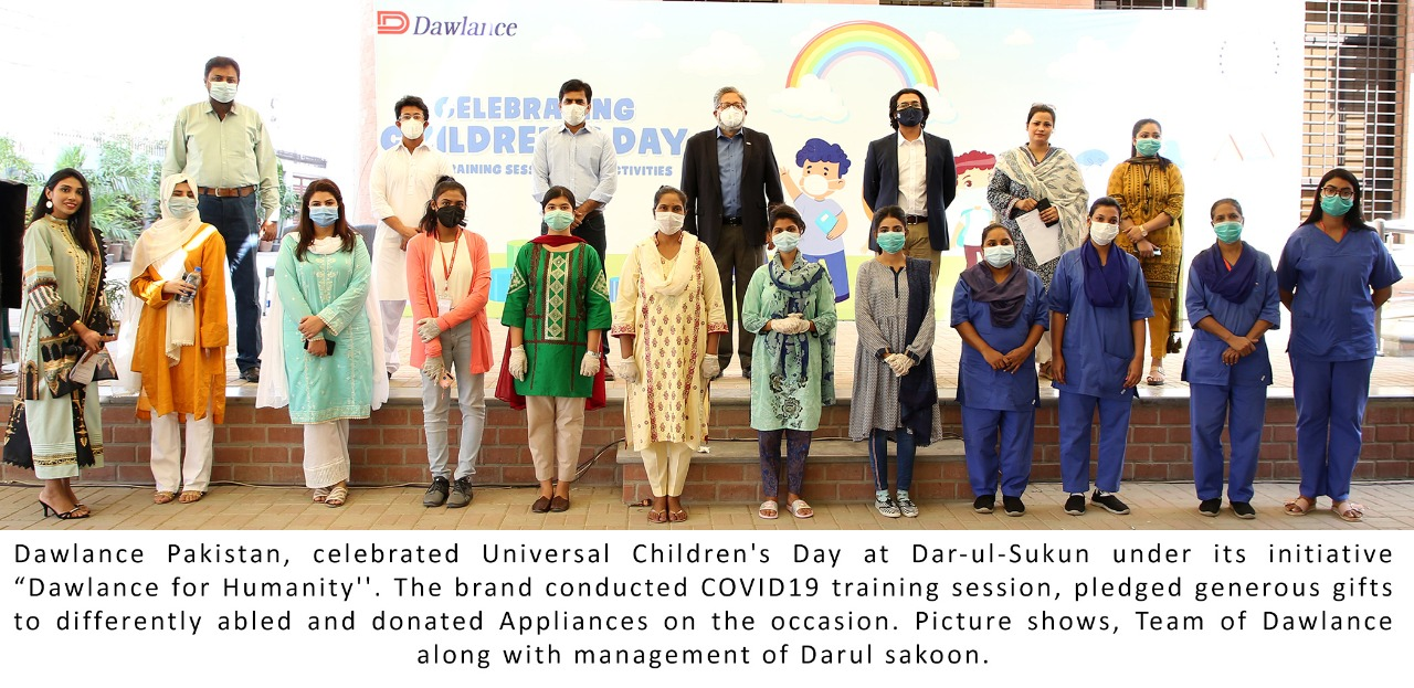 dawlance celebrates children's day at dar ul sukun