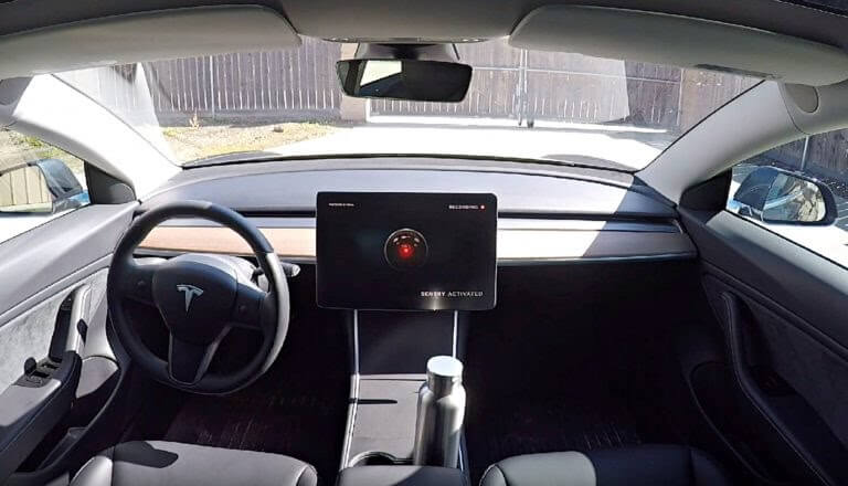 Tesla vehicles with sentry mode