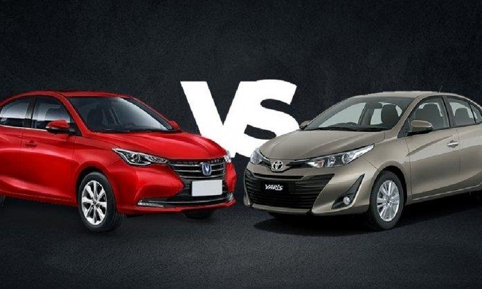 Changan Alsvin vs Toyota Yaris comparison
