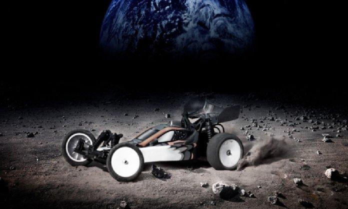 Moon Racing between two cars