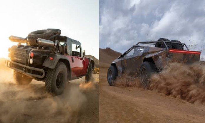 Elon musk races Baja 1000 with Cybertruck