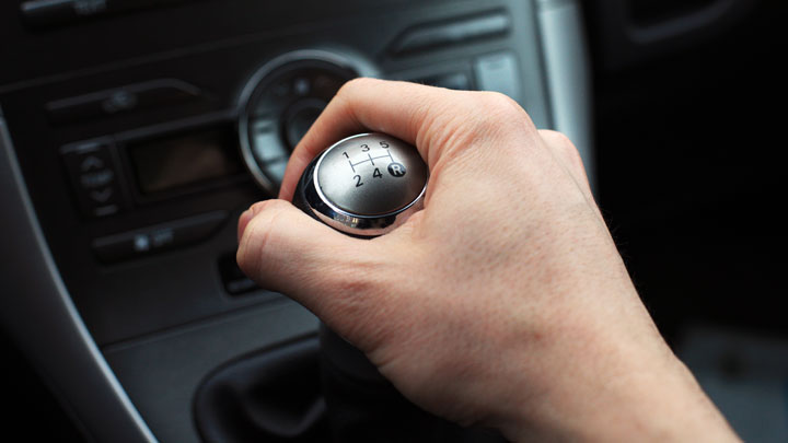 shifting down gears in car
