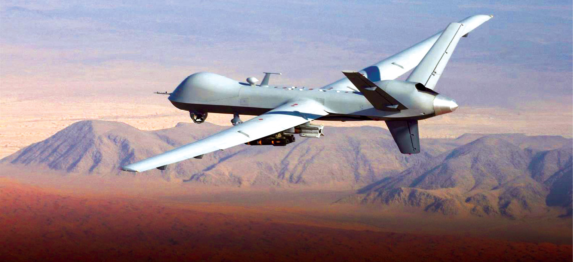 Drones on motorway and deployed
