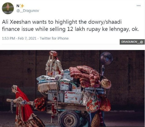 ali xeeshan anti-dowry