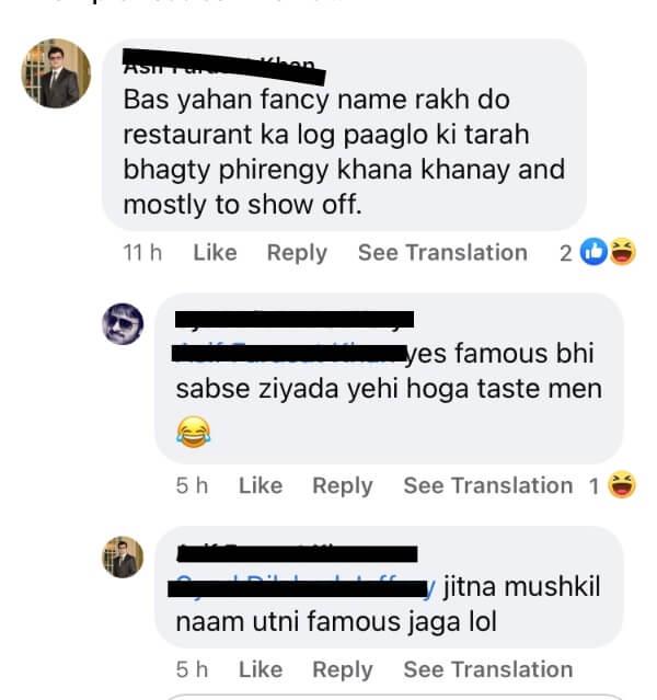 karachi fettuccine restaurant kitchen