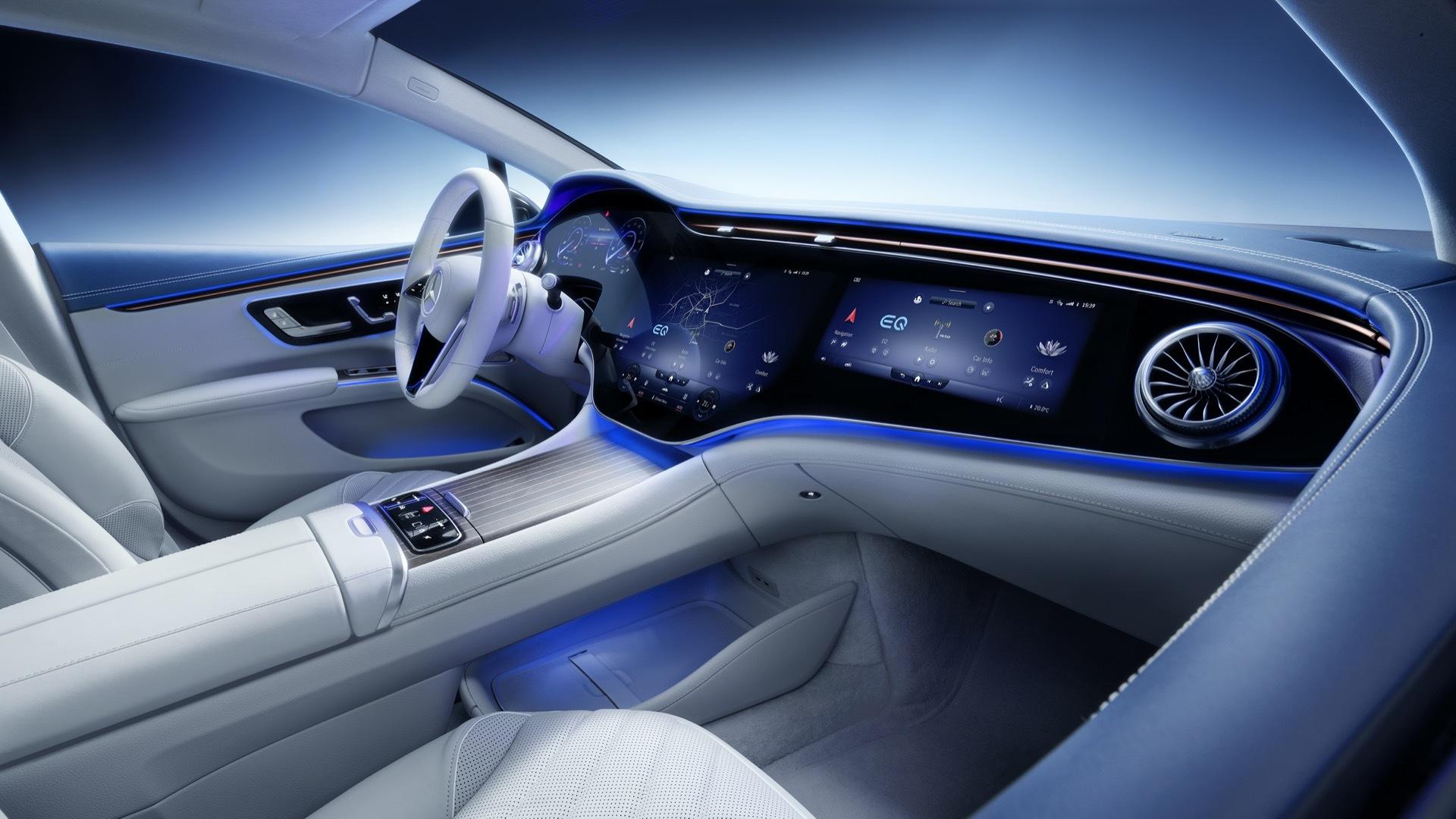 Tesla left behind my Mercedes Benz EQS interior