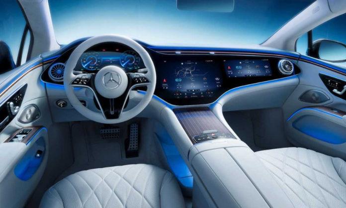 Mercedes and new car reveal electric sedan EQS