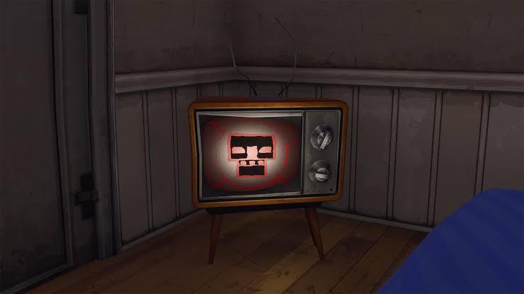 Scary tv in Fortnite
