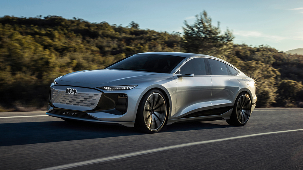 Audi and the new A6 electric sedan