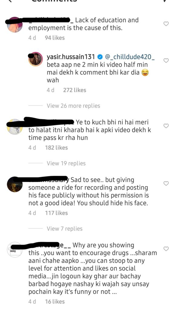 Yasir Hussain Criticized For Giving A Ride To A Beggar Kid