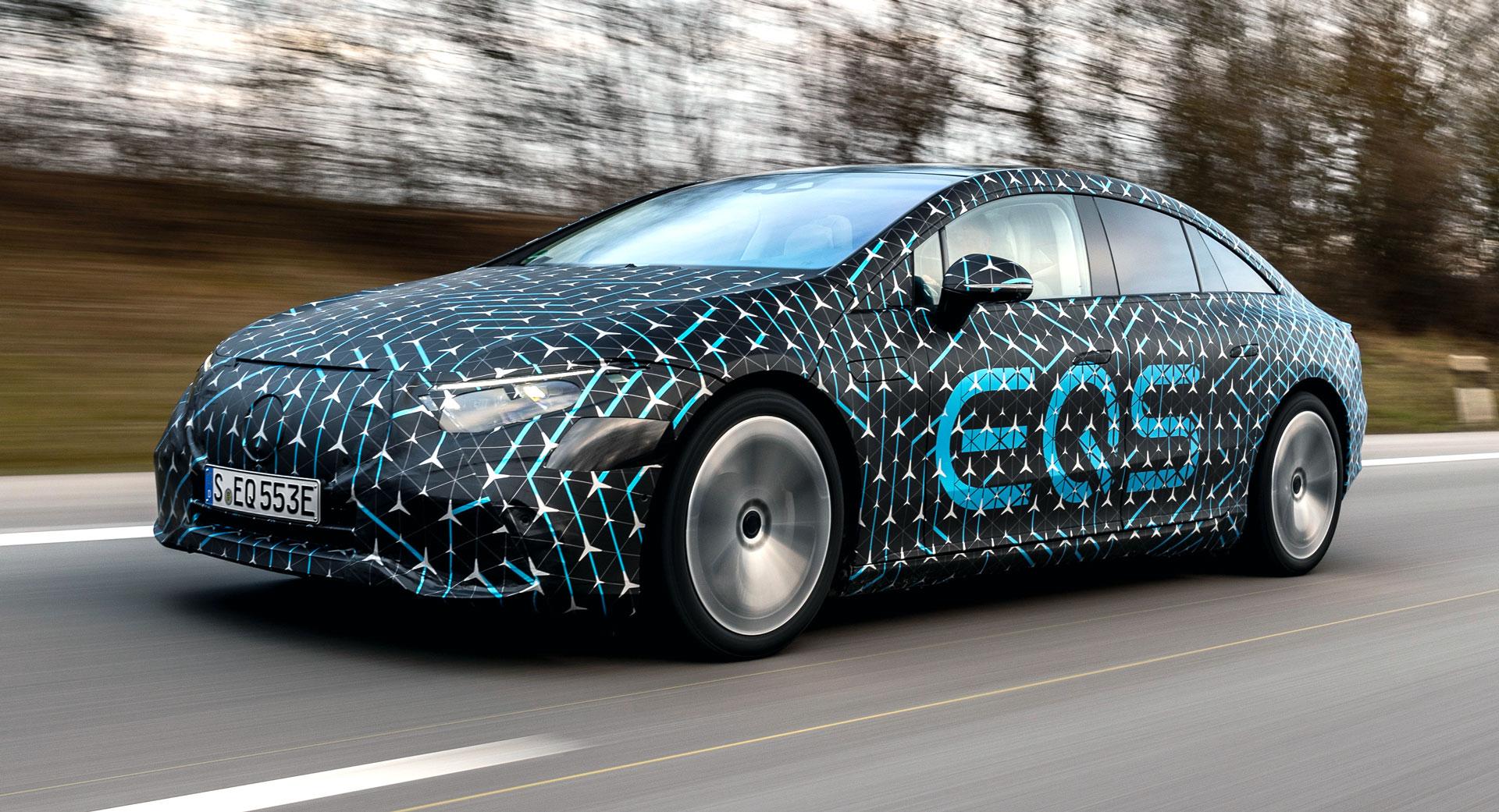 Mercedes new EQS vehicle