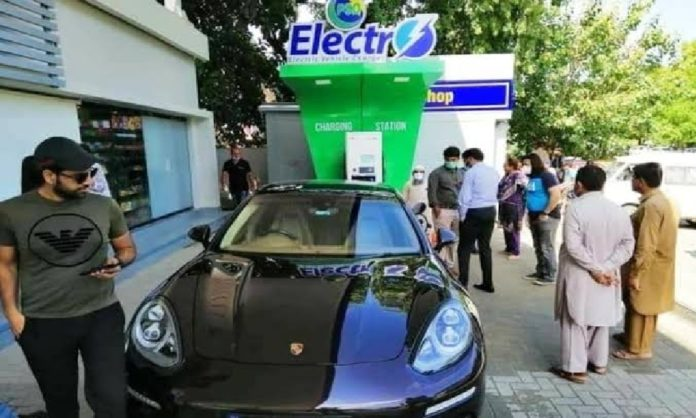 Electrical charging stations in Pakistan now