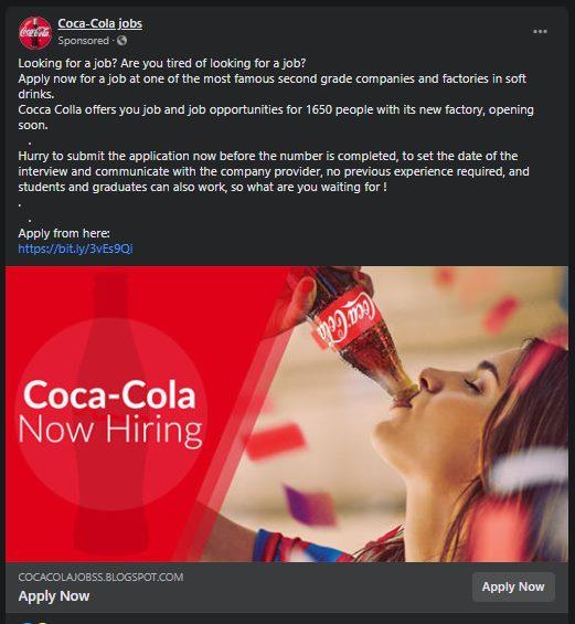Fake job ad