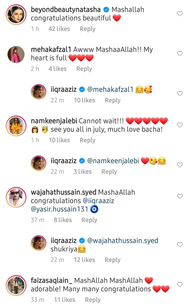 Yasir Hussain & Iqra Aziz Finally Announce The News Of Becoming Parents