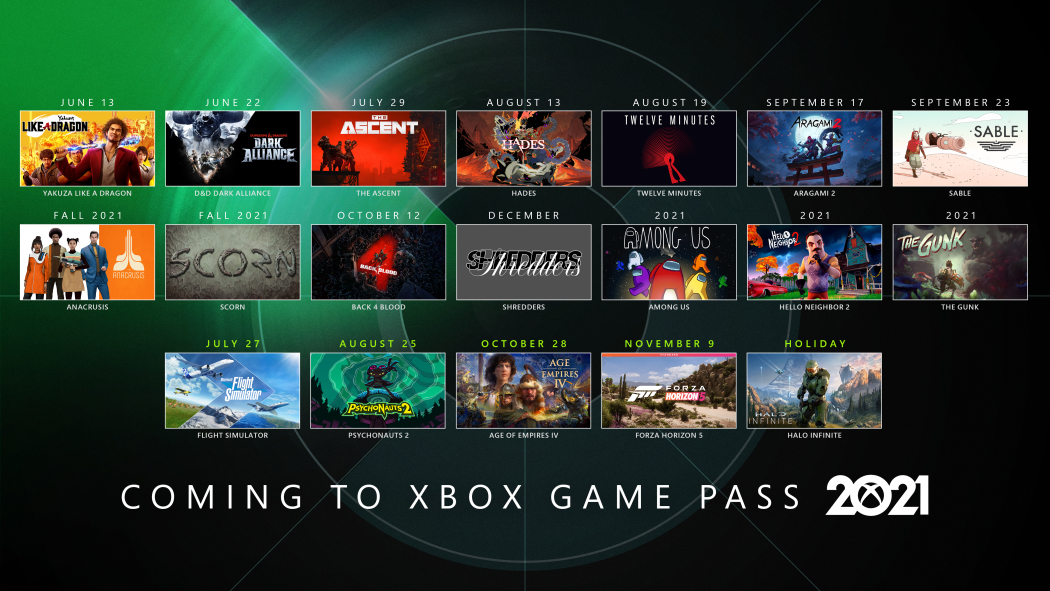 xbox game pass and games for players