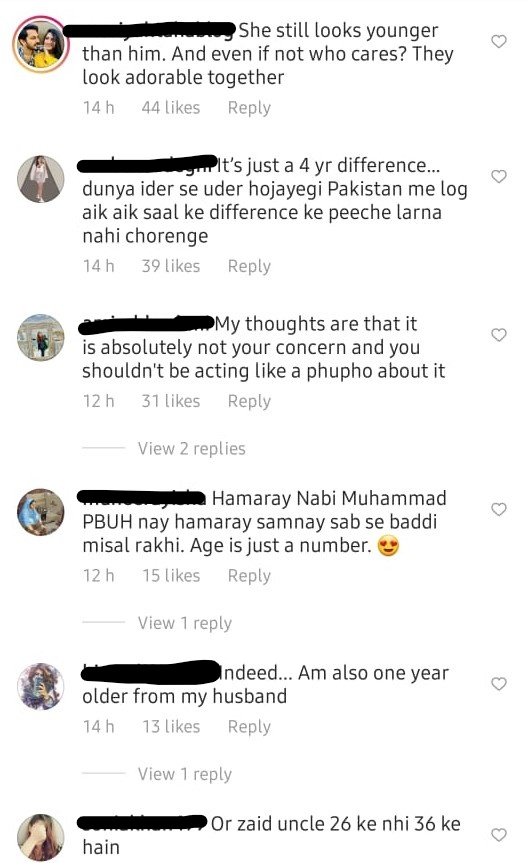 Pakistanis Surprised At The Age Difference Between Zaid Ali & Yumna