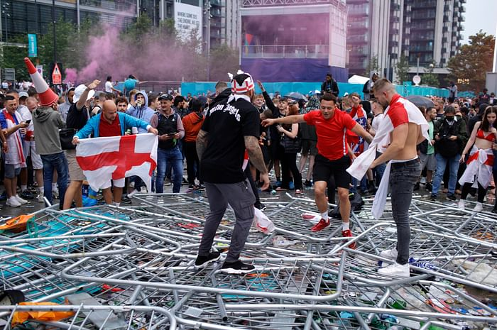 fans rioting after Euro 2020 final