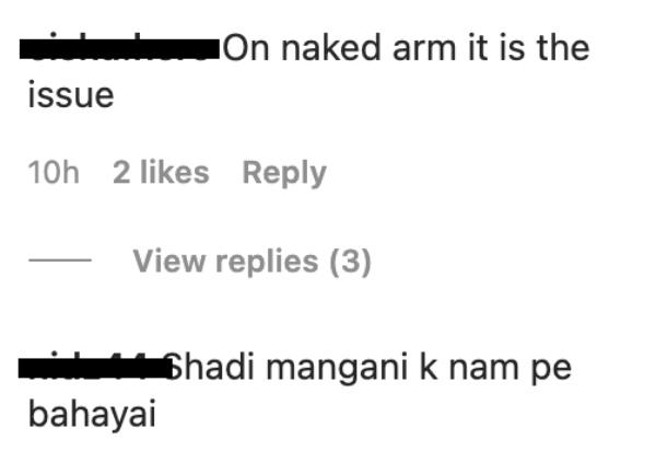 pakistanis angry aima baig wearing arm