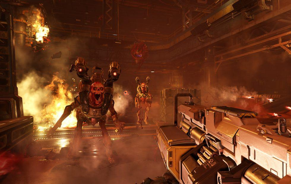 Nintendo and doom as a shooter on it