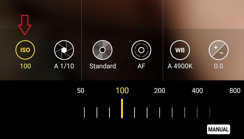 manual settings on phone camera
