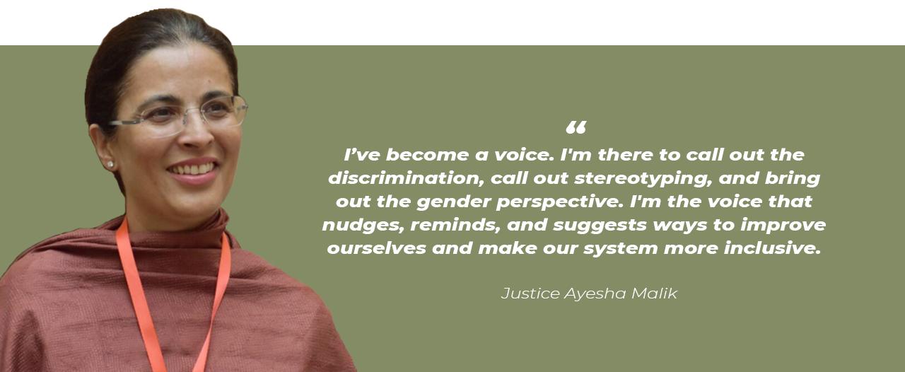 Justice Ayesha Malik as supreme court judge