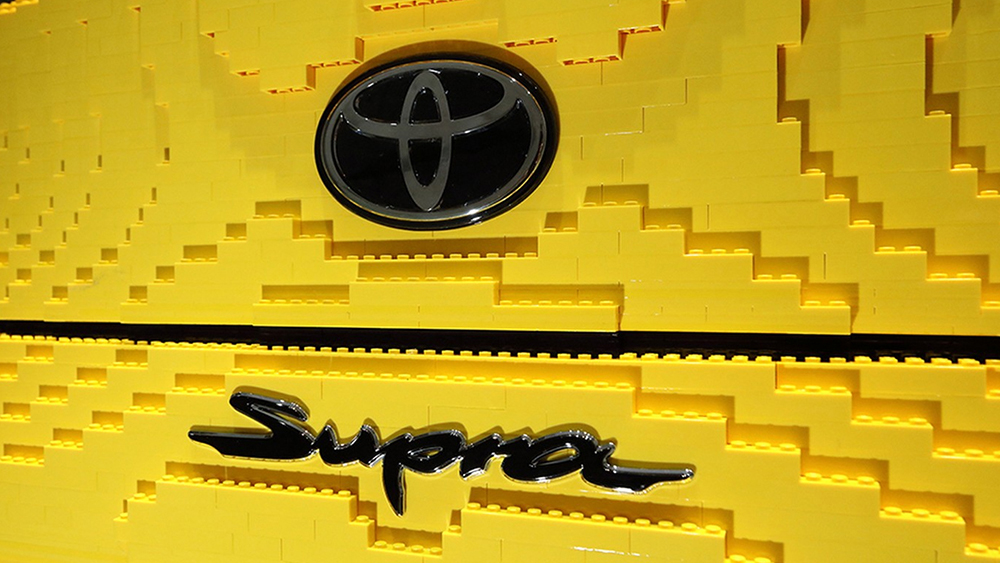 lego and a life sized version of supra