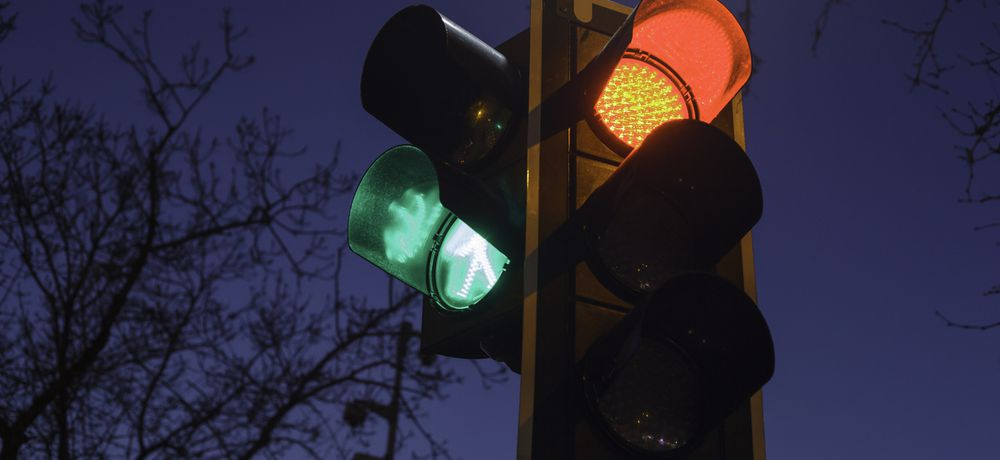 traffic signal and breaking it