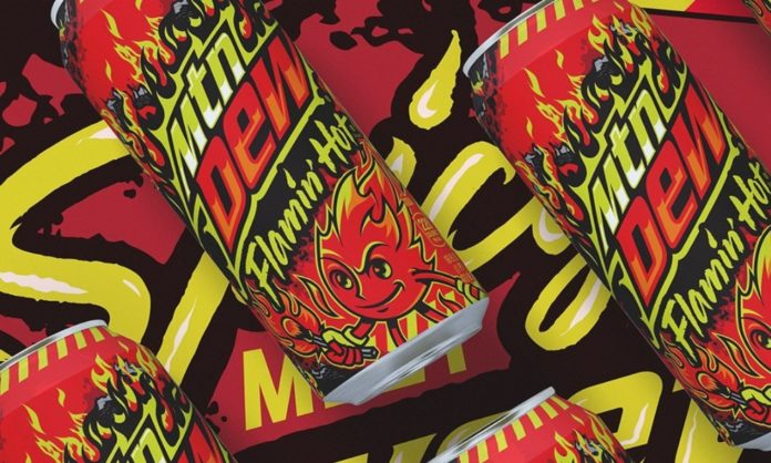 mountain dew flamin hot flavour drink