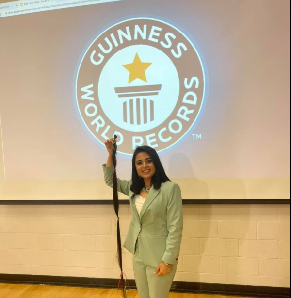 pakistani woman virginia most hair donated guinness record