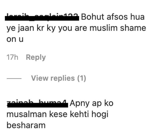 ayesha omar post hate