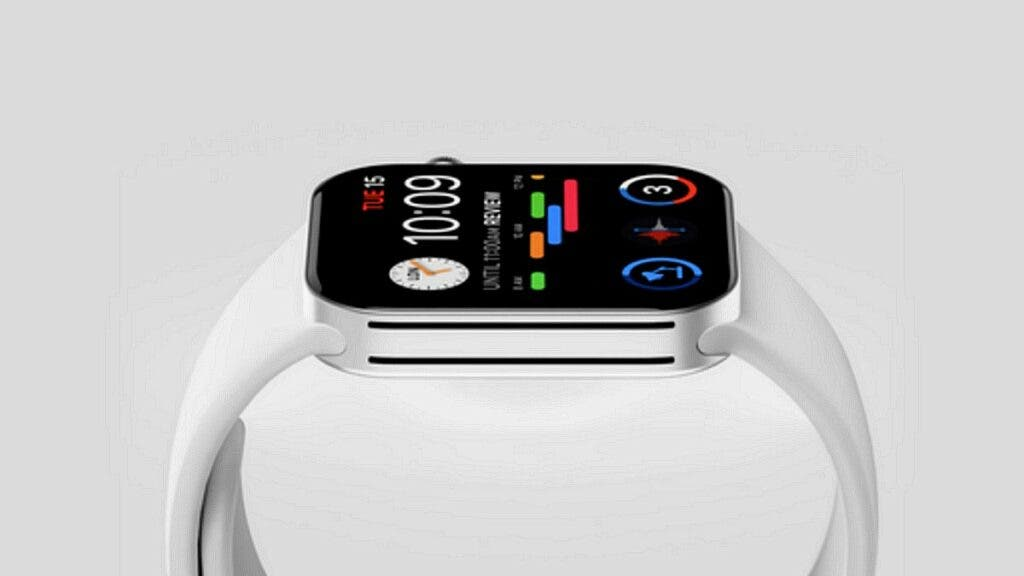 apple watch series 7 with a leak