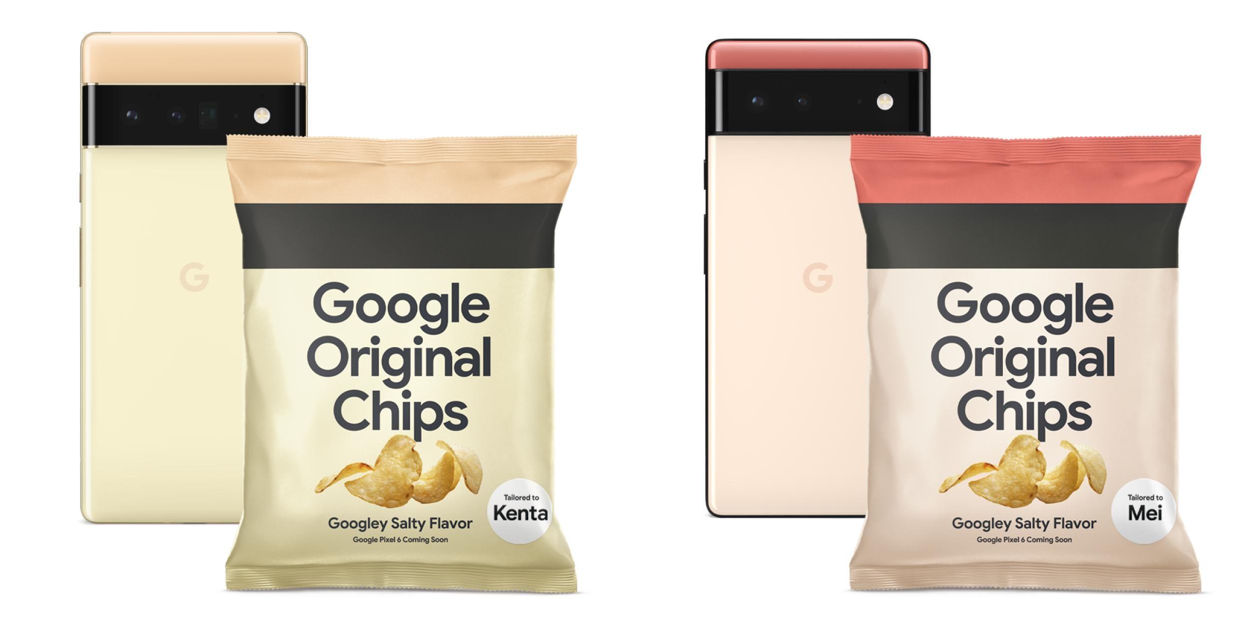 google pixel 6 potato chips