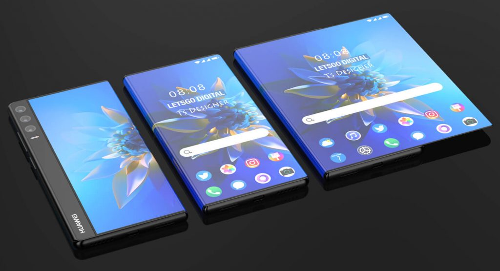 rollable display and gestures for Huawei