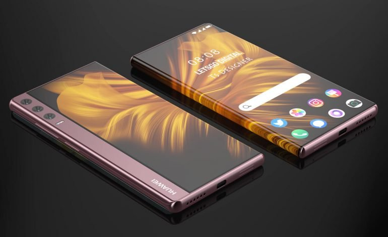 huawei with the patent on a rollable display