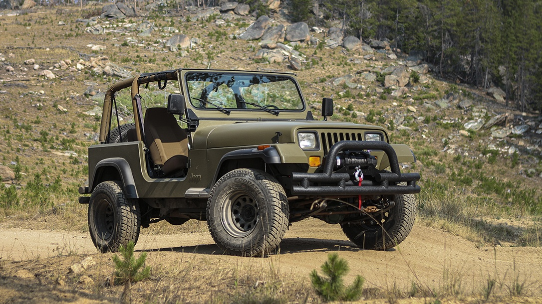 jeep wrangler and 1990s vintage jeep