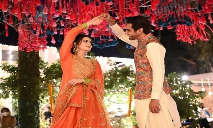 Minal khan And Ahsan's Dholki Pictures Trigger Haters For No Reason At All