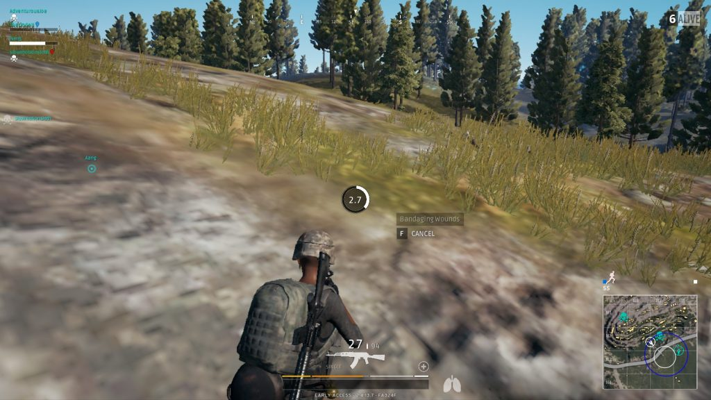 healing and regeneration in PUBG mobile