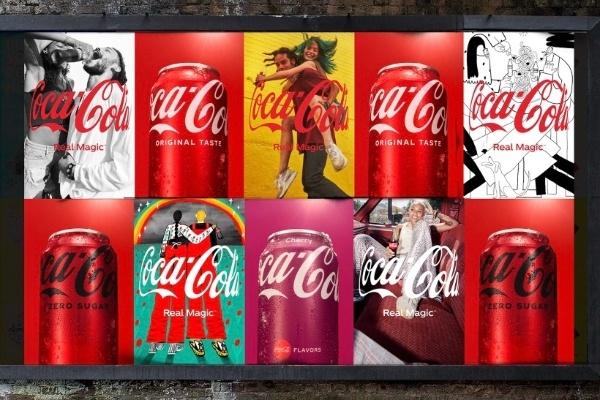 coca cola new logo hug