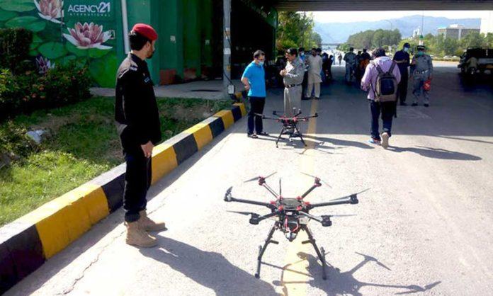 Islamabad Traffic Police drones