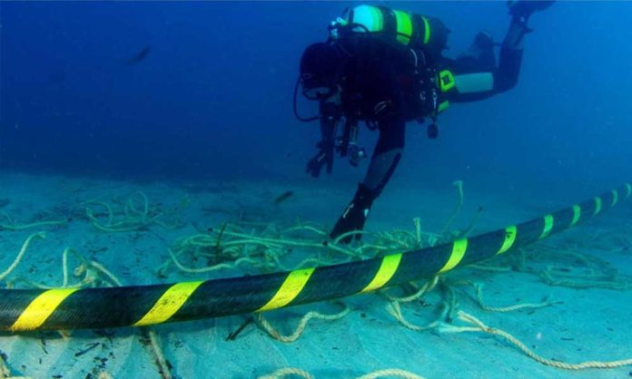 submarine cable internet connection
