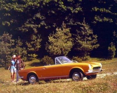 A 1968 Fiat 124 Spider