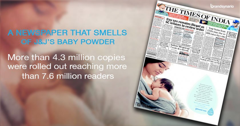 A Newspaper that Smells of J&J Baby Powder
