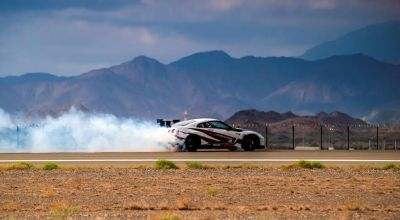 A specially tuned Nissan GT-R breaks the Guinness World Record for fastest drift.