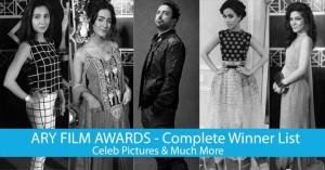 ARY Film Awards 2014 - Complete Winners List