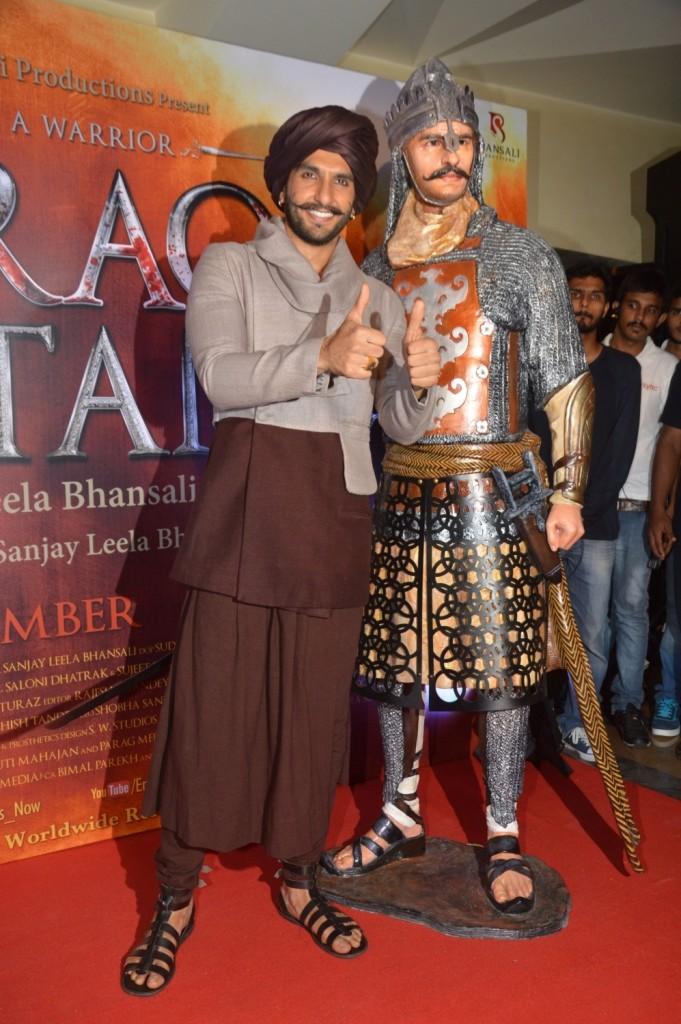Mumbai: Actor Ranveer Singh during the launch of Blazing Bajirao Web series and the Bajirao Figurine, in Mumbai on Nov 6, 2015. (Photo: IANS)