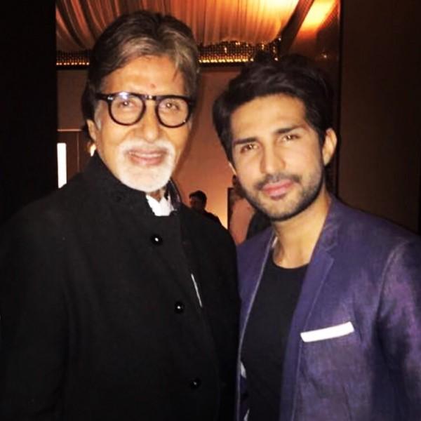 Adeel Chaudhry with Amitabh Bachchan