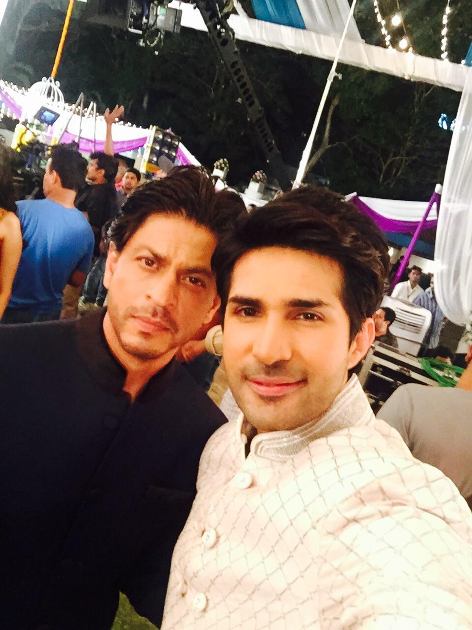 Adeel Chaudhry with Shahrukh Khan