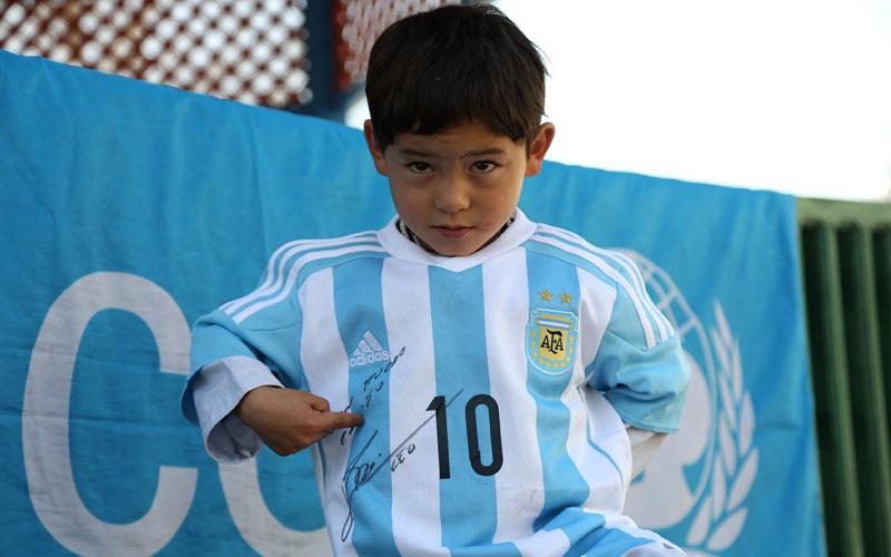 Afghan boy messi fan